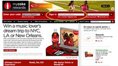 Coke promotes keywords for point on packaging www.qwasi.com #coke