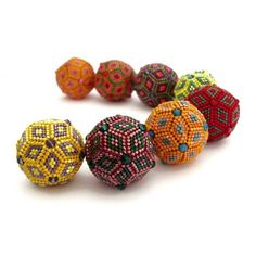 geometric beads - can be made using brick stitch or peyote stitch