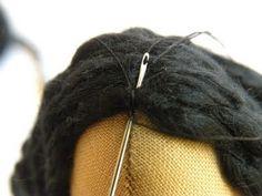 Countrykitty: tutorials. Tilda hair tute