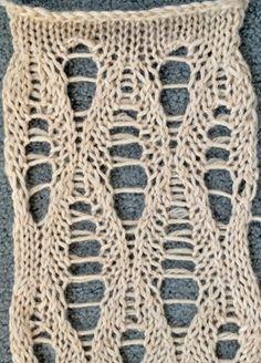 Ladder lace stitch pattern
