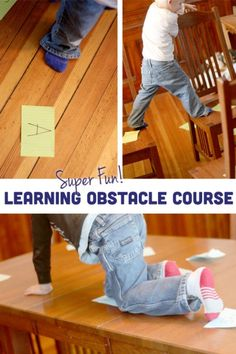 A super fun - and LEARNING - indoor obstacle course for kids! - pinned by @PediaStaff – Please Visit ht.ly/63sNtfor all our pediatric therapy pins