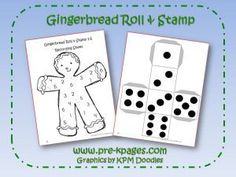 Roll the die and mark the number on their recording sheet with a dot marker. This website is full of free gingerbread themed printables.