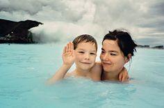 Bjork and her son, photo by Jurgen Teller