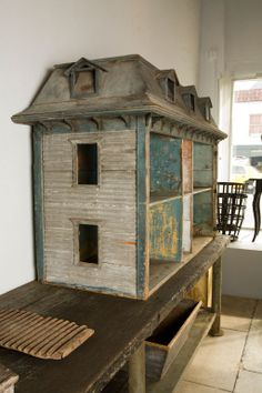 Massive Early American Dollhouse | From a unique collection of antique and modern decorative objects at http://www.1stdibs.com/furniture/more-furniture-collectibles/decorative-objects/