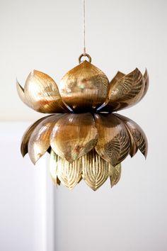 beautiful pendant lamp via At Home At Home