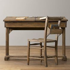 Flip-top reproduction school desk