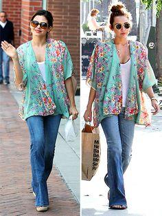 floral prints, friends, flower prints, outfit, kimono top, springtim floral, kimonos, kimono style, shirt