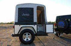 Jeep camper popped up.