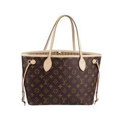 #LouisVuitton #Handbags Louis Vuitton Neverfull PM Brown Shoulder Bags