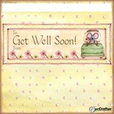 Get well soon choc wrapper