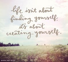 minna may blog: create yourself