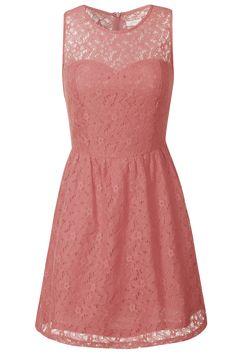 Dusty Pink Sweetheart Lace Dress
