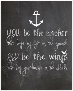 You be the Anchor  Chalkboard Art Print 8x10 by JustArtinAround, $9.99
