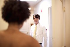 Groom's reaction.... And THIS, ladies and gentlemen, is why I wanted the second photographer!!