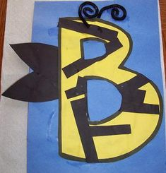 letter crafts, letter activities, letter b craft, bee theme for preschool, alphabet crafts, preschool letters, bumble bees, craft ideas, kid
