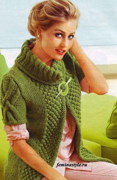 Вязание жилета.