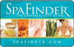 Spa Finder Gift Card $25.00
