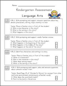 Kindergarten Common Core Assessment Pack (FREE)