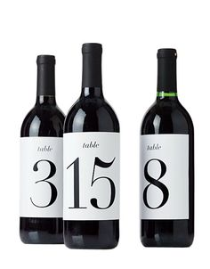 Brides: Free Wedding Download: Wine Bottle Table Numbers