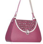 Fashion Avenue Pink Handbag Purse with Rhinestones Christmas Ornament