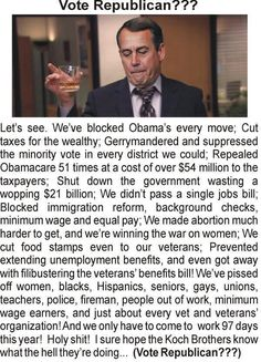 Repin if you're tired of Boehner breaking our government then blaming Obama.