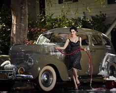 Dita Von Teese washing my 1st car. :P  #PinUP