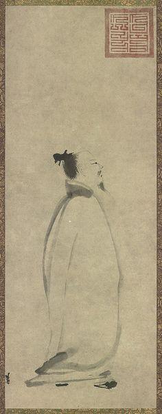 南宋-梁楷-李白行吟图-纸本墨-东京国立博物馆 by China Online Museum - Chinese Art Galleries, via Flickr