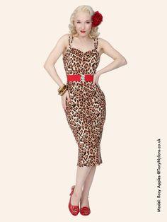 Bombshell Leopard Brown Dress -vivien of holloway
