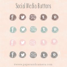 Social Media Buttons from Paper and Camera