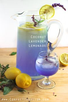 Coconut Lavender Lemonade Recipe, Confectionalsim.com
