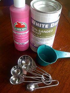 Recipe for homemade chalkboard paint!  =)