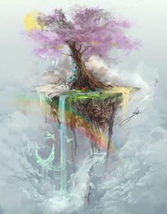 float deviantart, artpretti stuff, artist wonder, awesom art, life art, trees, beauti tree, fantasi artღ, tree of life