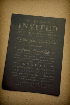 Gorgeous gold and black wedding invitation! Photo by Traina Photography  #wedding #invitation #gold #black #elegant
