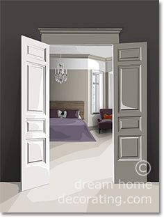 lavender & warm gray bedroom color scheme - quite French & adapts easily to different decorating styles