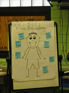"""Creating Our Classroom Enviornment with Books ~ Love this idea of """"whole body listening""""!"""