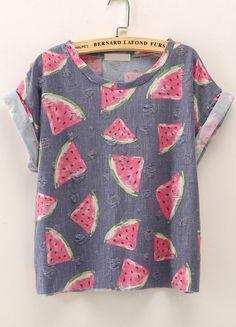 Watermelon shirt.