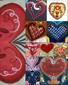 BAUERNMALEREI,patterns,heart styles