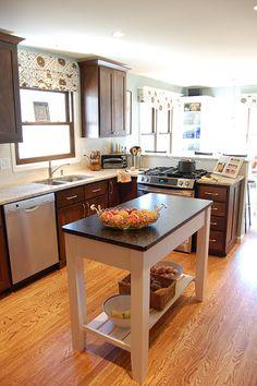 Kitchen peninsula on pinterest raised ranch kitchen - Kitchen peninsula with stove ...