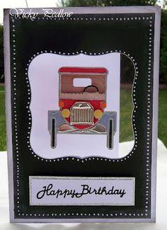 Marianne Design Creatables T Ford Birthday Card