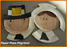 Paper plate pilgrims art activity