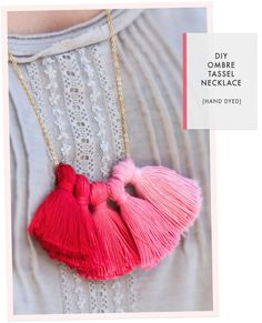 Ombre Tassel Necklace ombre, craft, diy tutorial, diy ombr, diy jewelry, tassels, tassel necklac, necklaces, ombr tassel