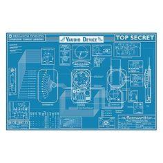 Warehouse 13 Farnsworth Blueprint Replica: Can I cross platform so the parents get some fun too?  It's a blueprint!