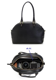 This is actually a camera bag -- cool!