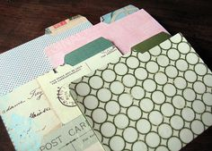 Free Printable mini file folders and labels