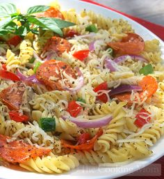 Pizza Pasta Salad | The Cooking Mom