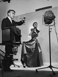 Horst Directing Fashion Shoot With Lisa Fonssagrives, 1949 Photo: Roy Stevens/Time & Life Pictures/Getty Images