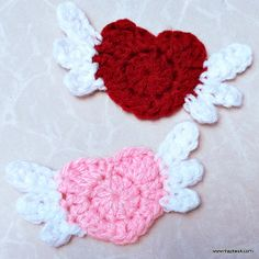 Ravelry: Flying heart applique pattern by Maz Kwok