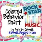 Color Behavior Chart - Rock Star Theme color behavior, behavior charts, rock stars, rock star theme