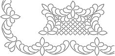 """3"""" Scallop Feather  11"""" Block 10""""X20"""" Quilt Stencils By Barbara Chainey BC-1805"""