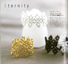 * The corner of Crafts Siry *: tuts for many Rings de siri, anillo, seed beads, seed bead rings, craft siri